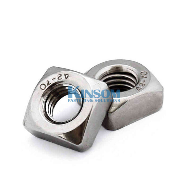 Metric Square nuts A2-70 SS304 bolt and nut