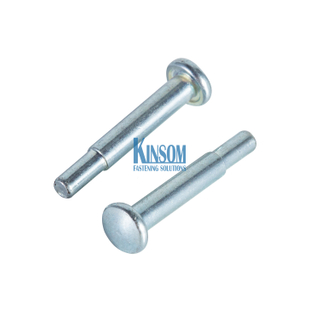 Pan Head Solid Rivets Steel Zinc Coating